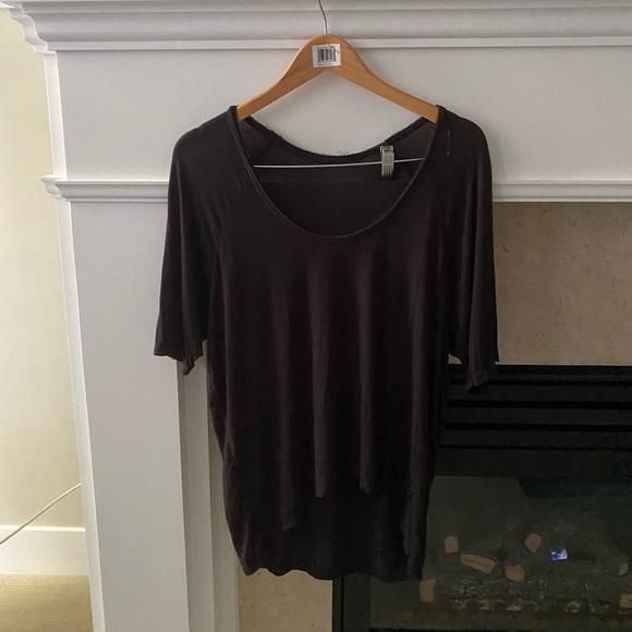 3 FOR $45 Brandy Melville Flowy Black Tshirt